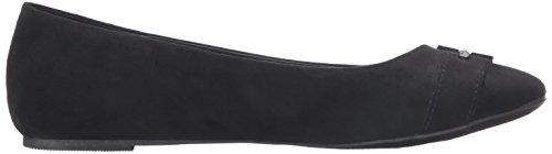 Nautica De Sousa Flat Women's Black Microsuede SqSwnR1xr
