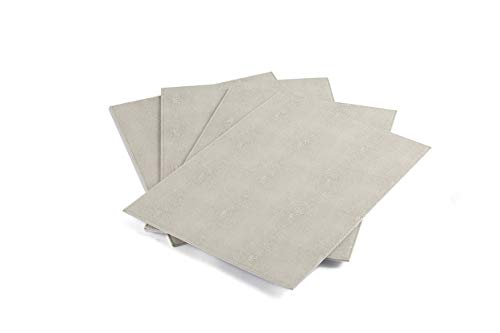 Westvillage Placemats Set of 4pcs Faux Leather Shagreen Finish Heat Resistant, Stain Resistant, Easy to Clean(Ivory)