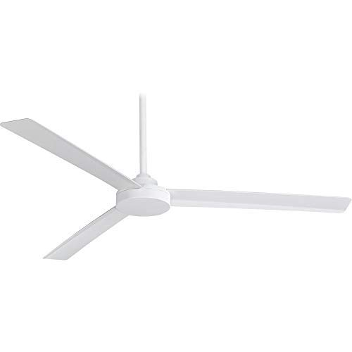 Minka Aire F624-WHF Roto XL 62 3-Blades Ceiling Fan in Flat White Finish with Flat White Blades