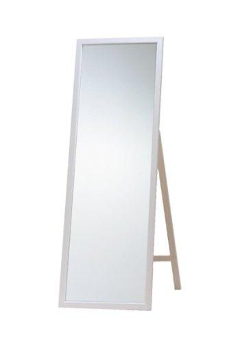 北欧テイスト天然パイン材 ジャンボスタンドミラー ホワイト 幅60×高さ170cm白 B004T1CBGCホワイト