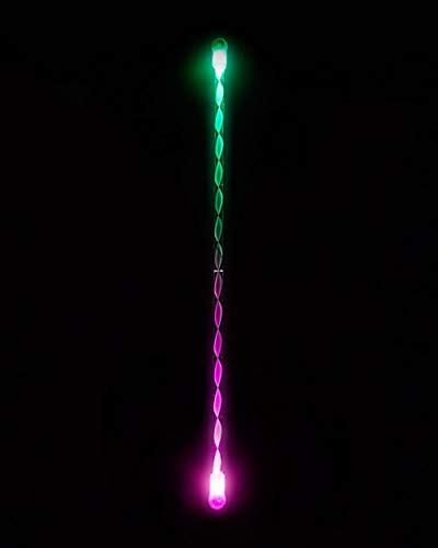 (EmazingLights Elite Flow LED Light Up Levitation Wand - Short String Rave Toy)