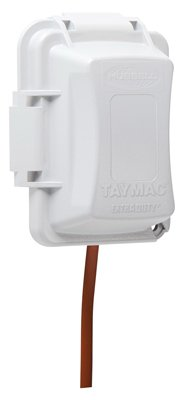 TayMac MM420W 1-Gang Weatherproof In-Use Cover, Extra Duty, 16-In-1, 2-3/4 In. Deep, White by TayMac