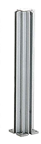"""CRL D990A243W Satin Anodized 24"""" 3-Way Design Series Partition Post"""