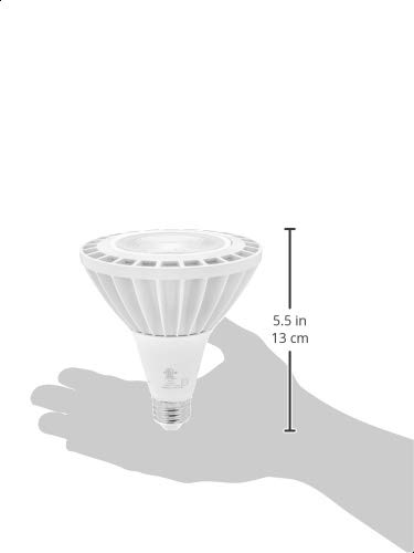 AmazonCommercial 300 Watt Equivalent, 25000 Hours, Non-Dimmable, 3300 Lumens, E26 Base, High Output PAR38 LED Light Bulb - Pack of 1, Soft White