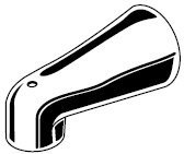 American Standard 023572-0020A Wall Mounted Tub Spout With 1/2