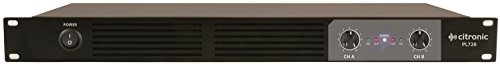 Citronic PL720 1U 2x 360W Digital Class D Power Amplifier Compact / Lightweight ()