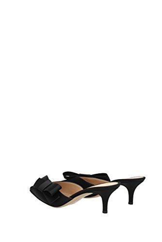 Black Rossi Kyoto Gianvito G9371055RICRAS Women Satin Sandals UK zqZ160