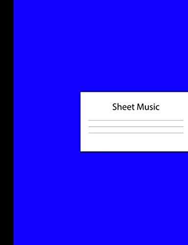(Sheet Music: 300 Pages of Sheet Music Manuscript Notebook Paper | Blue Dark Cover | Instrument Composition Book for Musician & Composer | 12 Staves ... | Create, Compose & Write Creative Songs)