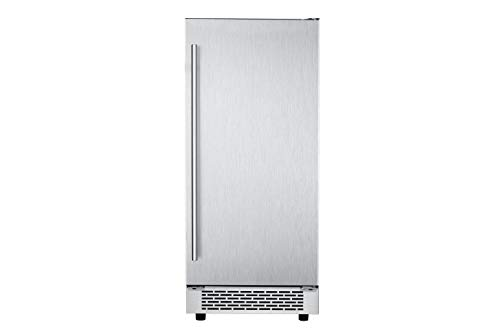 (Hanover HIM60701-4SS Studio Series 15 in. Stainless Steel Reversible Door and Touch Controls Undercounter Ice Maker)