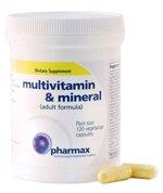 Pharmax - complemento multivitamínico y Mineral (fórmula de adulto) - 120 cápsulas