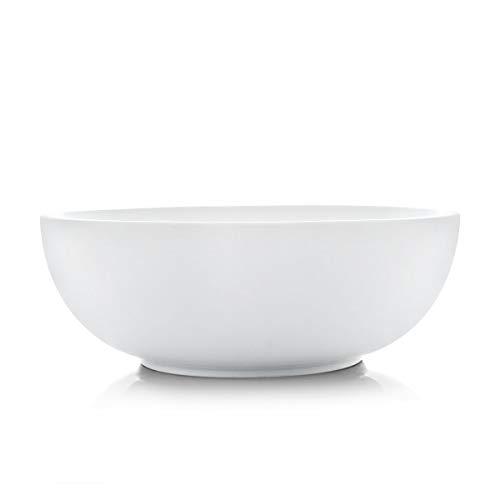 SURFLORA 11 Inches, 3.5 Quarts Super Large Porcelian Serving Bowl of Salad, Pasta, Soup, White