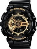 Casio G-Shock Men's Military GA-110 Watch, Black/Gold, One Size