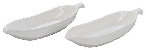 - BIA Cordon Bleu 900487S2SIOC Porcelain Dish Banana Split Bowl, White