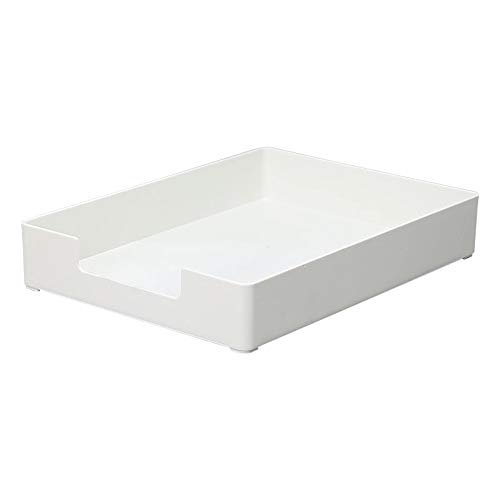 FONGFONG File Case Organizer Desk Organizer Workspace Organizers Stackable Desk Document Letter Tray Organizer Portable Storage Office School Home White (Tray Fax)