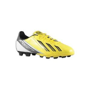 Adidas Kid's 'F5 TRX FG J' Soccer Cleats (2M, Yellow Black White)