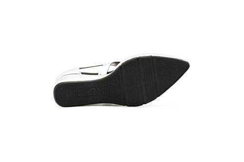 Shoebox Kicks Sandalias Deportivas Deportivas De Moda Plateadas