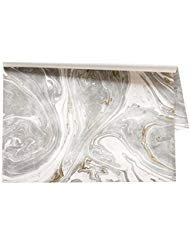 Kitchen Papers Gray Marbled Paper Placemats, Set of 24