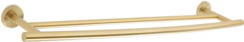 Amerock BH26545BBZ Arrondi 24in(610mm) Double Towel Bar - Brushed Bronze/Golden (Amerock 24