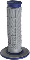 (Renthal G162 Blue/Gray Diamond/Waffle Soft/Firm Compound Tapered Motocross Grip)