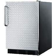 Summit 5.5 Cu. Ft. Refrigerator w/ Diamond Plate Door