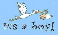 a boy flag blue banner