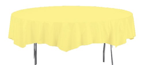 Creative Converting Octy-Round Paper Table Cover, 82-Inch, Mimosa ()