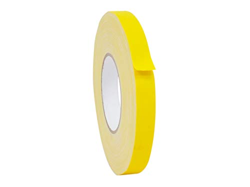Gaffers Tape Yellow - WOD CGT-80 Yellow Gaffer Tape Low Gloss Finish Film, Residue Free, Non Reflective Gaffer, Better than Duct Tape (Available in Multiple Sizes & Colors): 1/2 in. X 60 Yards (Pack of 1)