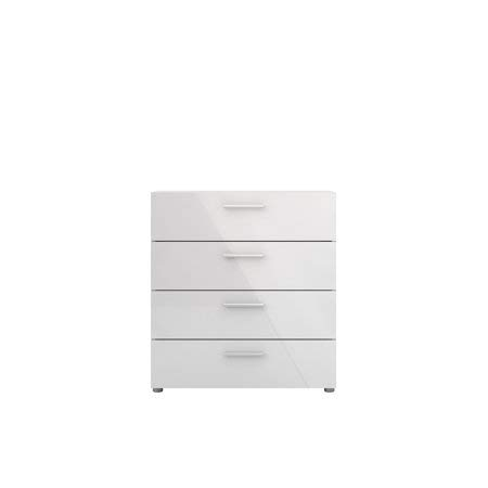 Tvilum Loft 4-Drawer Chest, Oak Structure/White High Gloss