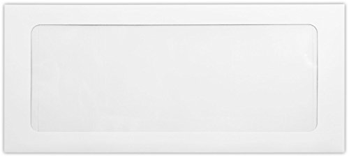 #10 Full Face Window Envelopes w/Peel & Press (4 1/8 x 9 1/2) - 80lb. White (500 Qty) | Perfect for Checks, Invoices, Letterhead, Letters, Statements | FFW-10-80W-500 by Envelopes.com