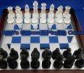 "10.2"" Mirrored Chess Game Box Set Withpiece - Black & White"