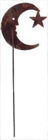 35 Inch Moon/Star Rusted Stake ()