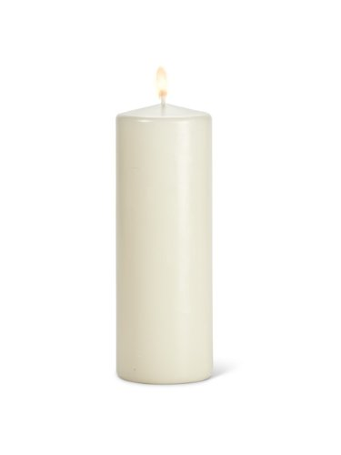 Abbott Collection Home Box of 3 Large Classic Pillar Candles Cream NEOCAN 10-FC/318