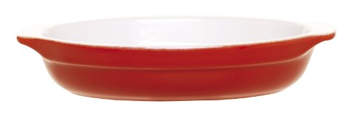 Emile Henry 8-1/2-Inch Oval Au Gratin Cerise Red