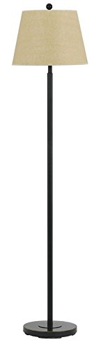 Cal Lighting BO-2077FL-DB Floor Lamp with Beige Fabric Shades, Dark Bronze Finish, 60