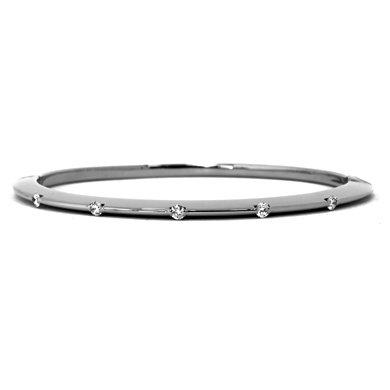 "Or blanc 18 carats-Diamant Contour 0.37ct Bracelet 7 ""Motif JewelryWeb"