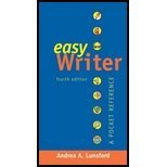 Easy Writer 3e with 2009 MLA Update and Top Twenty Quick Guide, Lunsford, Andrea A., 0312612877