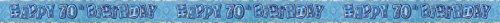 12ft Happy 70th Birthday Blue Sparkle Prismatic Party Foil B