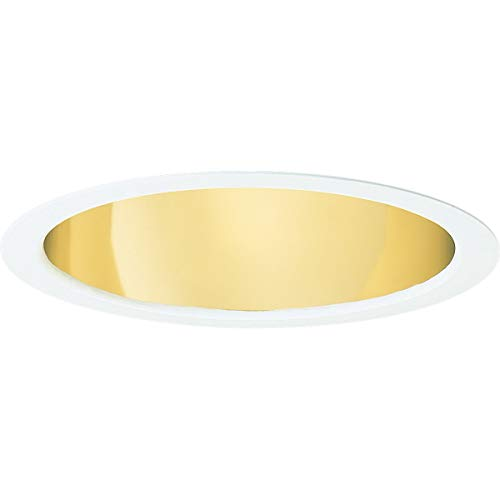 - Progress Lighting P8115-22A Specular Gold Finish Baffle 9-Inch Outside Diameter, Gold Alzak