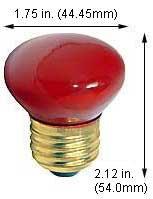 Incandescent Light Bulbs 25R14FL/MED/Red 130V (Case of 120)
