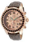 Invicta Grand Diver Chronograph Rose Dial Grey Leather Mens Watch (Invicta Grand Diver Chronograph)