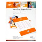 (HeatSeal Crystal Clear Letter Pouch Laminates (3 Mil))