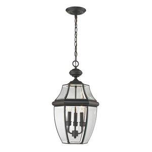 Cornerstone Lighting 8603EH/75 Ashford 3 Light Exterior Hanging Lantern, Oil Rubbed Bronze