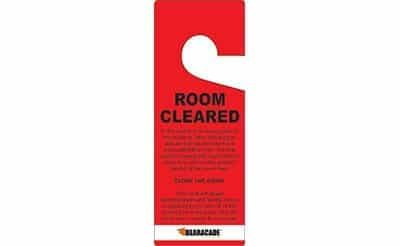 Bearacade - 25 Room Cleared Door Tags - Red