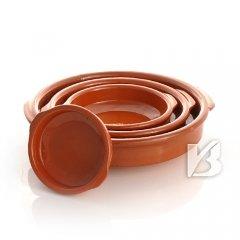 Cazuela, traditionel, flach, braun 16 cm
