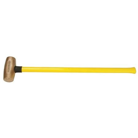 American Hammer AM8BZFG Sledge Hammer, 8 lb, 32'' Bronze/Fiberglass, 6'' Height, 2.5'' Width, 32'' Length
