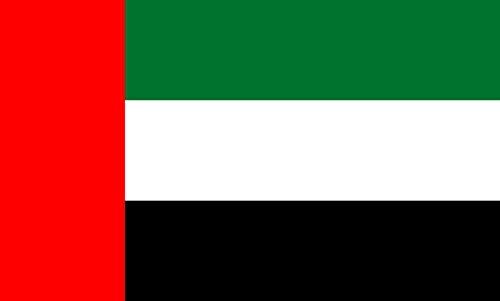 (DIPLOMAT-FLAGS magFlags Table-Flag/Desk-Flag: United Arab Emirates 15x25cm)