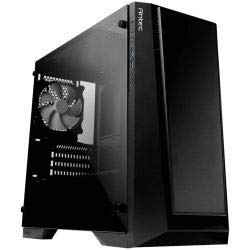 Antec Performance Series P6 Micro-ATX PC Computer Case with 4mm Tempered Glass Side Panel, 120mm White LED Rear Fan Pre-Installed, 120/140mm Fan Mounts, 390mm VGA Card for Micro-ATX/Mini-ITX