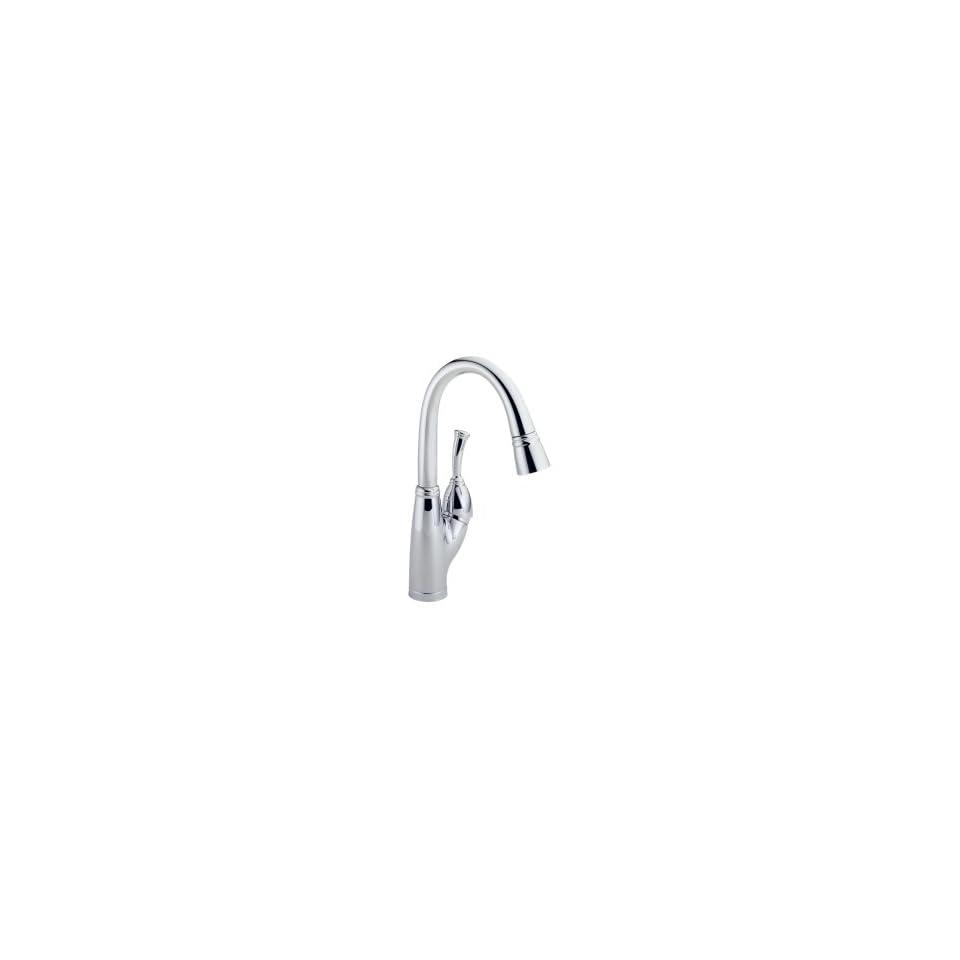 Delta Faucet 999 Allora Single Handle Pull Down Bar Faucet, Chrome