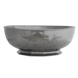 Pewter Stoneware Serving Bowl - Large