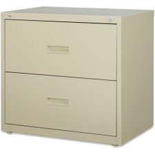 Lorell 2-Drawer Lateral File, 30 by 18-5/8 by 28-1/8-Inch, Putty